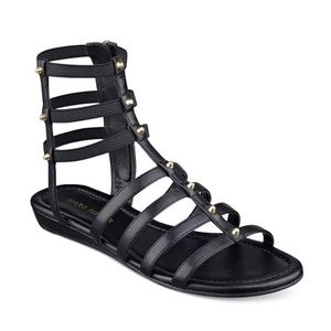 marc fisher Studded Pritty Flat Gladiator Sandals
